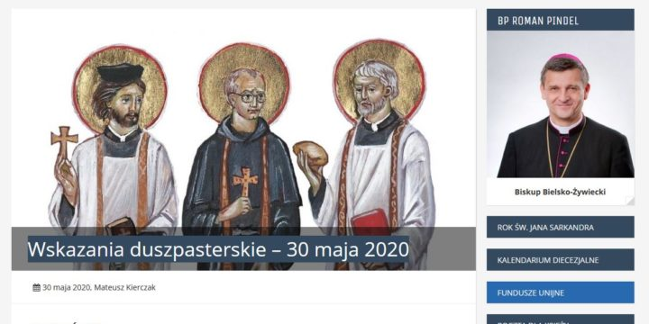 Diecezja Bielsko – Żywiecka – Wskazania duszpasterskie – 30 maja 2020